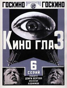'Kino-eye' by Dziga Vertov film poster by Alexander Rodchenko Alexander Rodchenko, Russian Constructivism, Russian Avant Garde, Cinema, Cultural Studies, Film Posters, Graphic Posters, Poster Wall, Vintage Posters