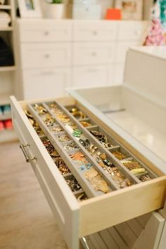 Closet island jewelry drawer