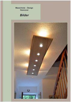 Deckenlampen - Massiv Holz Design Decken Lampe - ein Designerstück von…
