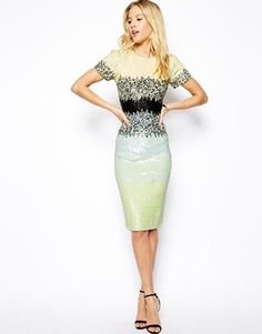 What a way to whittle your waist, I bet this dress would like amazing on a curvy girl. Needle & Thread Gloss Pencil Dress $476