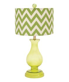 Green Zigzag Glass Teardrop Table Lamp by  #zulily #zulilyfinds