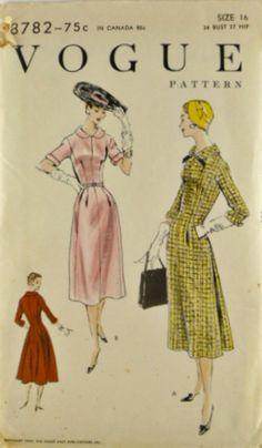 Vintage 50s Vogue 8782 Pattern Easy to Make by VintageNeedleFinds,
