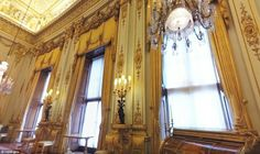 The tour includes a walk-through The White Drawing Room, above, where a secret door leads to the Queen's private apartments