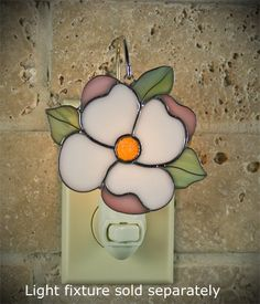 Suncatcher Tiger Lily Stained Glass Switchables Night Light Cover; Ornament