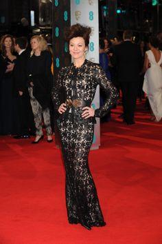 Helen McCrory wearing John Rocha to the BAFTAs
