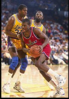 Bernard King and Magic Johnson-1991