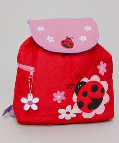 Take a look at this Red Ladybug Quilted Backpack by Stephen Joseph on #zulily today!