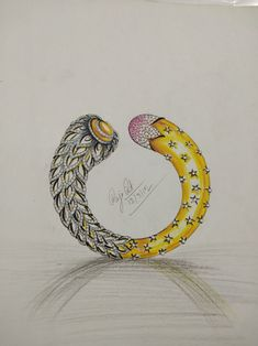 Jewelry Design Drawing, Jewelry Sketch, Jewellery Sketches, Hand Jewelry, Jewelry Art, Jewelry Rings, Ring Sketch, Necklace Drawing, Bangle Bracelets