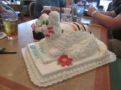 A friend made this tiger cake for us after the one in the birthday episode of Daniel Tiger.