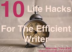 Do you ever need just five more minutes in your day to write? visit www.sachablack.co.uk for helpful hints and tips on writing