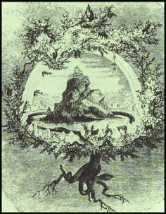 """Yggdrasil is the cosmic World Tree or """"Tree of Life"""""""