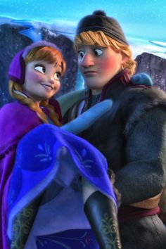 Frozen Anna and Kristoff Frozen Anna And Kristoff, Frozen And Tangled, Disney Frozen, Frozen Stuff, Frozen Movie, Disney And Dreamworks, Disney Pixar, Walt Disney, Disney Characters