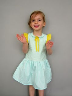 dress with flutter sleeves and slim peter pan collar (upcoming pattern)