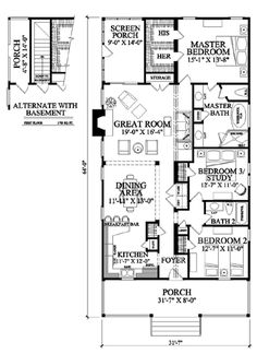 Colonial Southern Traditional House Plan 57065 Alternate Level One