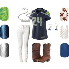 Seattle Seahawks Jamberry nails & apparel.  Go Hawks!!