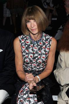 Vogue's Anna Wintour at Alexander Wang.