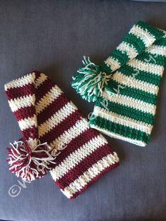 Hand Crocheted Christmas Elf Hat Red or by WhoNeedsSleepAnyways