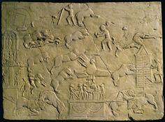 Relief depicting circus games (stone). Roman, (2nd century AD) / Museo della Civilta Romana, Rome, Italy