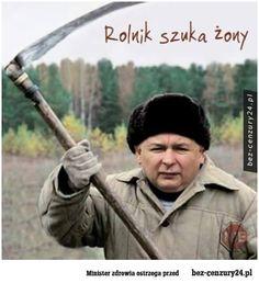 Rolnik szuka żony - Absurdy polskiego internetu: śmieszne obrazki, filmy z Facebook, nasza-klasa, fotka.pl i innych. Funny Quotes, Funny Memes, Jokes, Shakira, Really Funny, Haha, Clever, Politics, Entertaining
