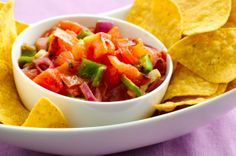 Grilled Tomato Salsa #recipes #dips #salsa #entertaining #snacks #chips #party
