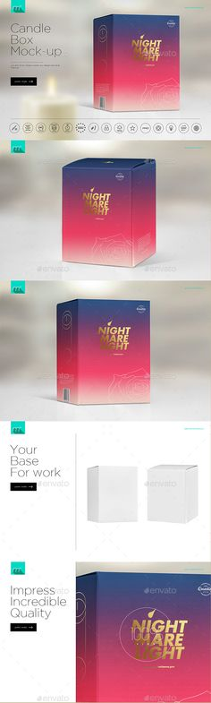 Candle Box Mock-up. Download here: https://graphicriver.net/item/candle-box-mockup/17333128?ref=ksioks