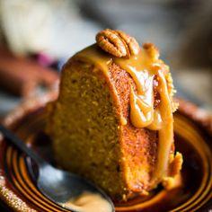 Tastes like pecan pie on top of pound cake! -  Pecan Pie Pound Cake