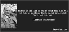 Amen!!! Dietrich Bonhoeffer