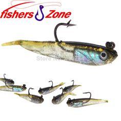 Wholesale 10Pcs/lot 70mm 6g Fishing Soft Baits Fishing Lure Lead Jig Head Fish Lures Tackle Sharp Hook $5.99