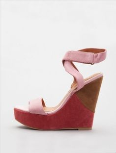 Two of my faves: pink and wedges!