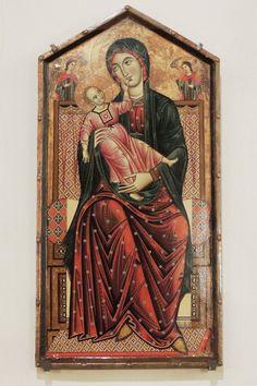 Meliore di Jacopo (Maestro di Montefioralle?) - Madonna con bambino in trono - 1270-1275 - Chiesa di Santo Stefano a Montefioralle