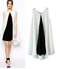 New Arrival Chiffon Black And White Women Plus Size Work Dress Summer Style Plus Size Work Dresses, Dresses For Work, Summer Dresses, White Women, Chiffon Dress, Plus Size Women, Black And White, Clothes For Women, Alibaba Group