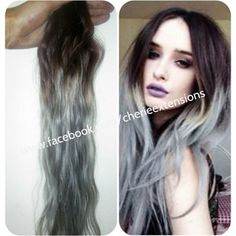 Balayage Dip Dye 8a Remy Ombre Balayage Human Hair Extensions Full Head Weft Colour 4 Medium Bro