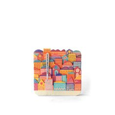 3 by you | Coasters, markers, acrylic - cm 9,8x9,8x0,6 - 2010 | #pocket #city by Luigi Viscido, via Flickr | #art #italy #illustration