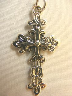Sterling Silver Christian Cross Pendant  Free Shipping