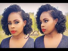 #33 Curly Micro Twists - YouTube Big Chop Natural Hair, Natural Hair Twists, Natural Hair Updo, Natural Hair Styles, Micro Braids Hairstyles, Natural Afro Hairstyles, Twist Hairstyles, Dreadlock Hairstyles, Black Hairstyles