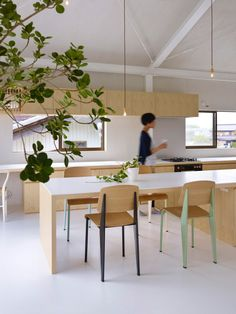 Minimalist living Japan - Hege in France Minimalist Interior, Minimalist Living, Home Kitchens, Lofts, Japanese Architecture, Interior Architecture, Jean Prouve, Warehouse Conversion, Piece A Vivre