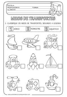 A Arte de Ensinar e Aprender: Atividade pronta - Meios de transportes…                                                                                                                                                                                 Mais