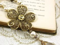 Vintage Repurposed Necklace Jewelry Goldtone by ATwistOfWhimsy, $68.00