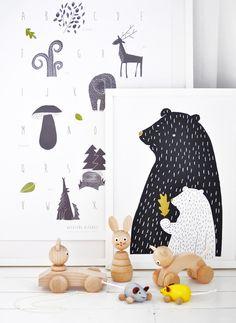 Leuke printables voor de kinderkamer door Jana Klouckova Kudrnova. #kinderkamer #inspiratie
