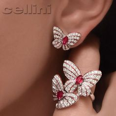 The #Sweetest kind of #Butterfly Kisses  #Ruby #Rubies #Diamonds…