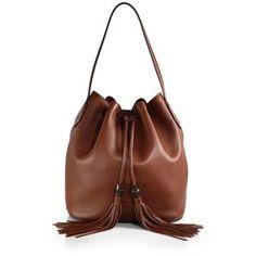 Gucci Lady Tassel Leather Bucket Bag