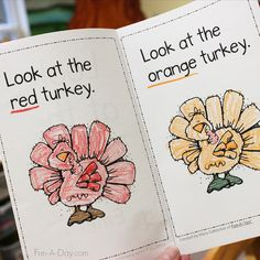 Free Printable Thanksgiving Emergent Reader