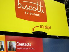 Video conferencing in a self-contained gizmo that lives atop your TV and is no bigger than, well, a biscotti. Neat.
