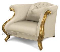 Hollywood Regency Style Club Chair