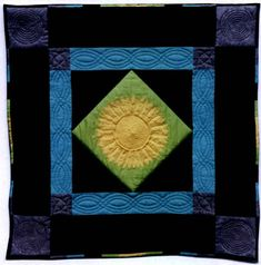 Sunflower, Amish Quilt #quilt #sunflower #amish