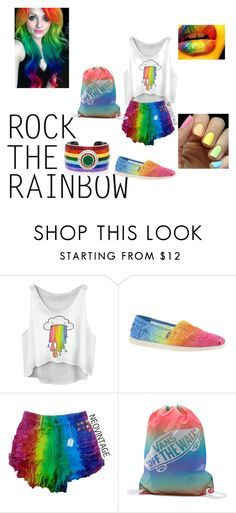 """Rainbow Outfit"" by charlese-b on Polyvore featuring Skechers, Vans, Elizabeth Raine, Monday, women's clothing, women's fashion, women, female, woman and misses"