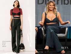 Chrissy Teigen In Alessandra Rich –  The Fab Life TCA Panel