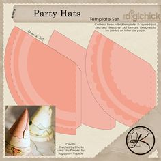 Party Hats Adorned With Tissue Festooning To A Little Something