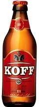 Cerveja Koff III, estilo Standard American Lager, produzida por Sinebrychoff, Finlândia. 4.5% ABV de álcool.