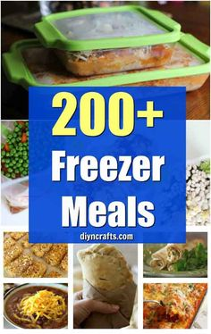 200 Easy To Make Freezer Meals That Save You Time And Money - Easy Make Ahead Crockpot Recipes Your Family Will Love! Curated by DIYnCrafts Team via Vanessa easy meals Plan Ahead Meals, Freezable Meals, Slow Cooker Freezer Meals, Make Ahead Freezer Meals, Dump Meals, Freezer Cooking, Easy Meals, Cheap Meals, Meals To Freeze
